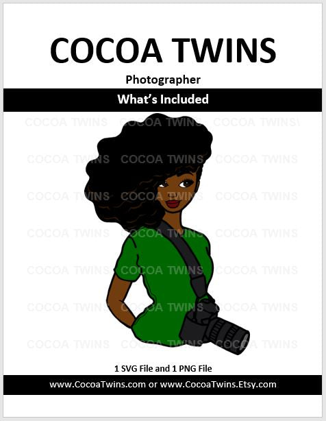 Digital Download  - Photographer - SVG and PNG Formats - Cocoa Twins