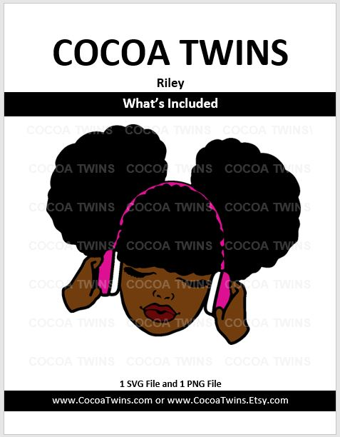 Digital Download  - Riley - SVG and PNG Formats - Cocoa Twins