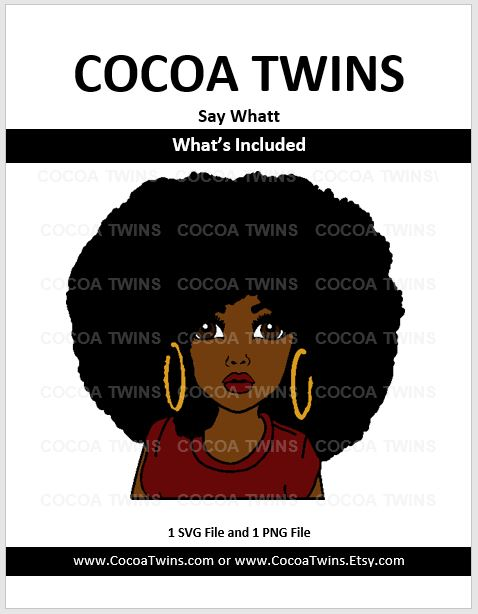 Digital Download  - Say Whatt - SVG and PNG Formats - Cocoa Twins