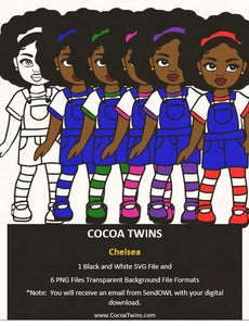 Digital Download  - Chelsea  - SVG Layered File and PNG File Format - Cocoa Twins