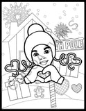 2020 Cocoa Twins Holiday Coloring Book | PDF Format | Instant Download