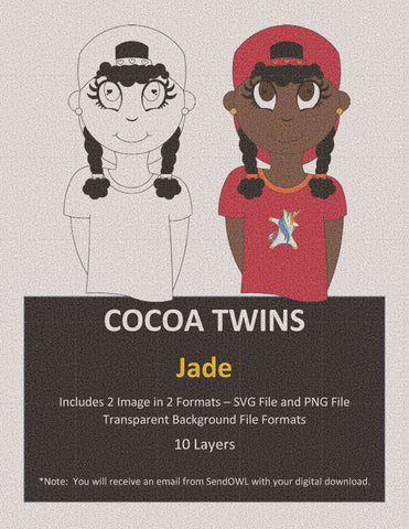 Digital Download  - Jade - SVG Layered File and PNG File Format - Cocoa Twins