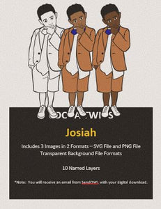 Digital Download  - Josiah - SVG Layered File and PNG File Format - Cocoa Twins