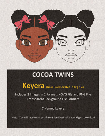 Digital Download  - SVG Cut File (Color) - Keyera - Cocoa Twins