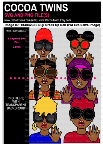 Preferred Member Exclusive Digital Download  - 134342356 Digi Dress Up Doll - SVG and PNG Files