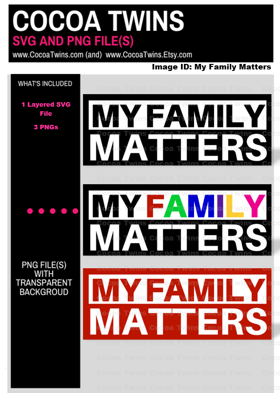Digital Download  - My FAMILY Matters