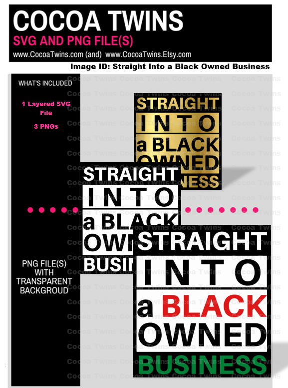 Digital Download  - Straight Into a Black Owned Business