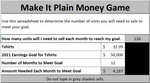Make It Plain Money Game - An Interactive Tool