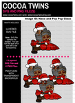 Digital Download - Nana and Pop Pop Claus File and PNG File Format