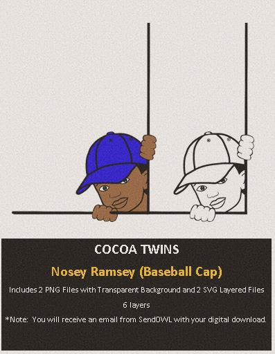 Digital Download  - Nosey Ramsey (Hat) - SVG Layered File and PNG File Format - Cocoa Twins