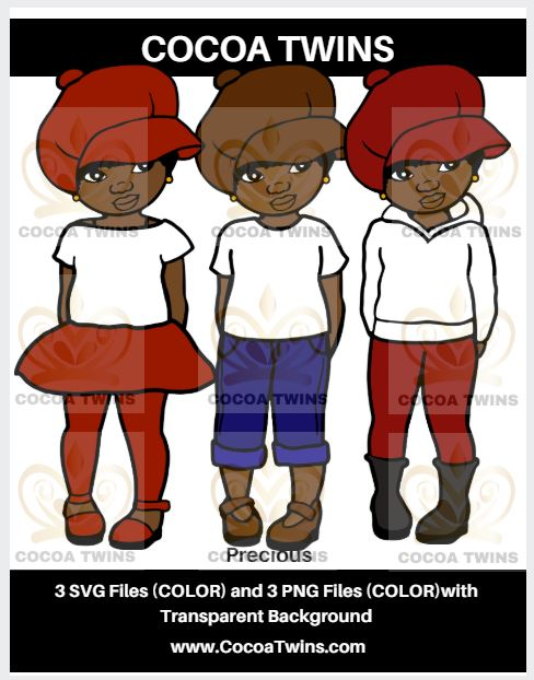 Digital Download  -  Precious (Apple Hat)- SVG Layered File and PNG File Format - Cocoa Twins