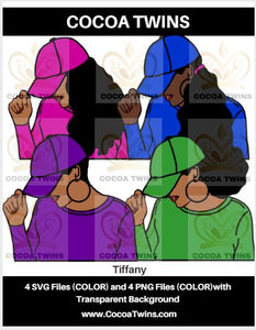 Digital Download  - Tiffany - SVG Layered File and PNG File Format - Cocoa Twins
