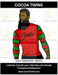 Digital Download  -  Ugly Sweater - Santa - SVG Layered File and PNG File Format - Cocoa Twins