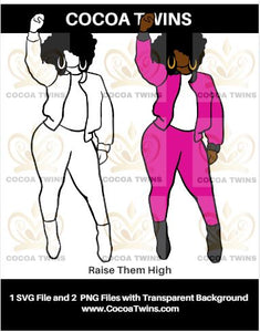Digital Download  - Raise Them High - SVG Layered File and PNG File Format - Cocoa Twins