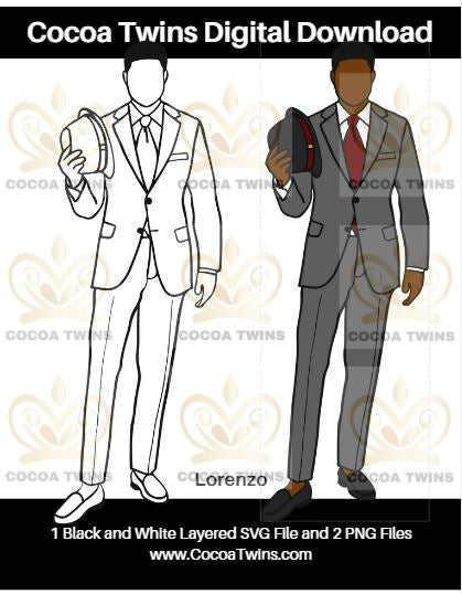 Digital Download  -  Lorenzo - SVG Layered File and PNG File Format - Cocoa Twins
