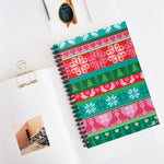 02E Cocoa Twins Ugly Sweater Spiral Notebook - Ruled Line