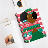 02B Cocoa Twins Ugly Sweater Spiral Notebook - Ruled Line