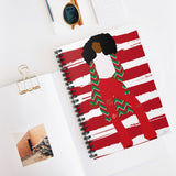 03D Cocoa Twins Ugly Sweater Spiral Notebook - Ruled Line