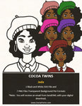 Digital Download  - Jada - SVG Layered File and PNG File Format - Cocoa Twins