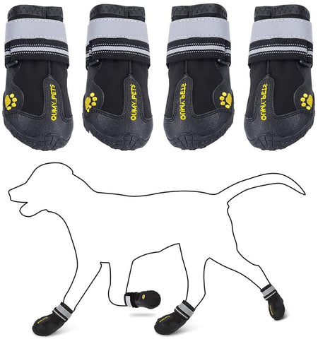 QUMY Pets Dog Winter Boots