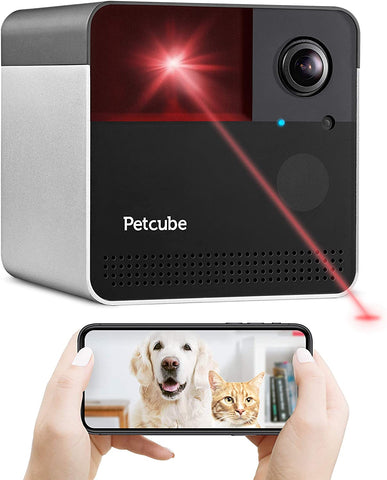 Petcube Play 2 Wi-Fi Pet Camera with Laser Toy & Alexa Built-In, for Cats & Dogs. 1080P HD Video, 160° Full-Room View, 2-Way Audio, Sound/Motion Alerts, Night Vision, Pet Monitoring App