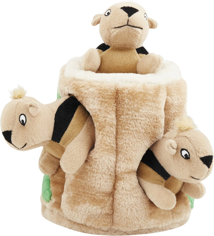 Outward Hound Hide A Squirrel Squeaky Puzzle Plush Dog Toy