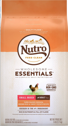 WHOLESOME ESSENTIALS™ HEALTHY WEIGHT SMALL BREED ADULT DRY DOG FOOD FARM-RAISED CHICKEN, BROWN RICE & SWEET POTATO RECIPE