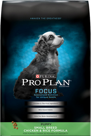 purina pro plan focus puppy small breed chicken & rice formula dry puppy food