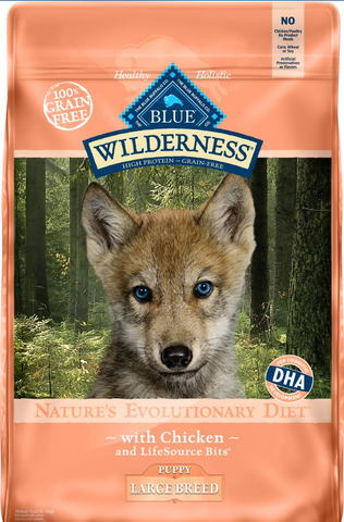 Blue Buffalo Wilderness Large Breed Puppy Chicken Recipe Grain-Free Dry Dog Food, 24-lb bag