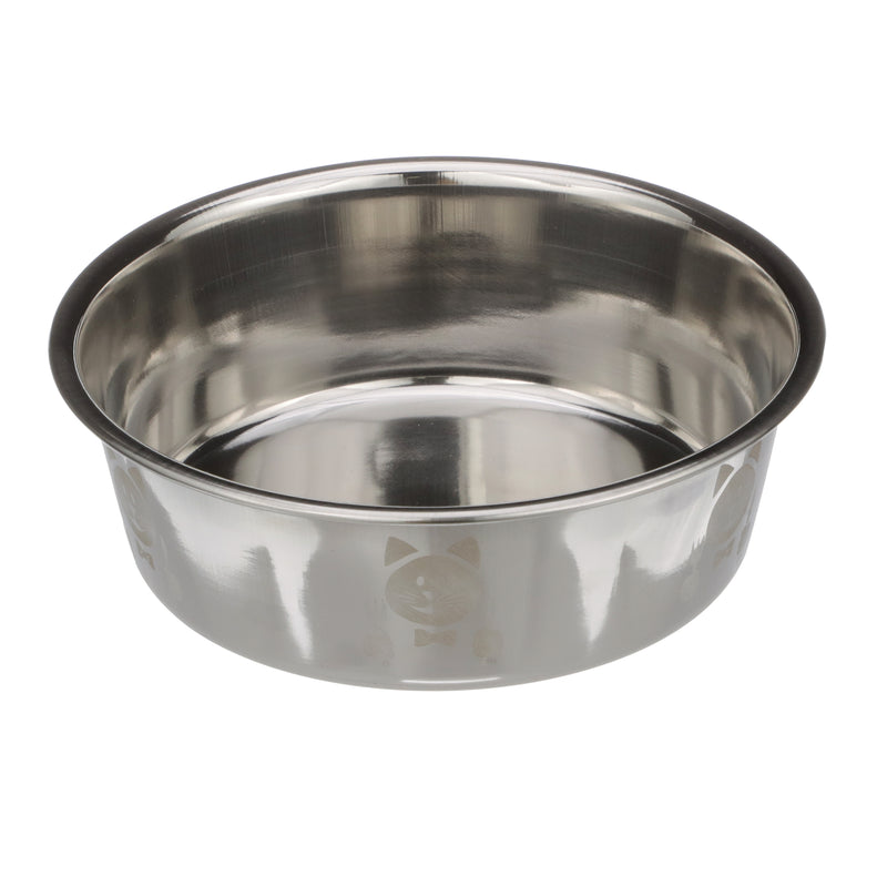 Hungry Cat Etched Stainless Steel Bowl