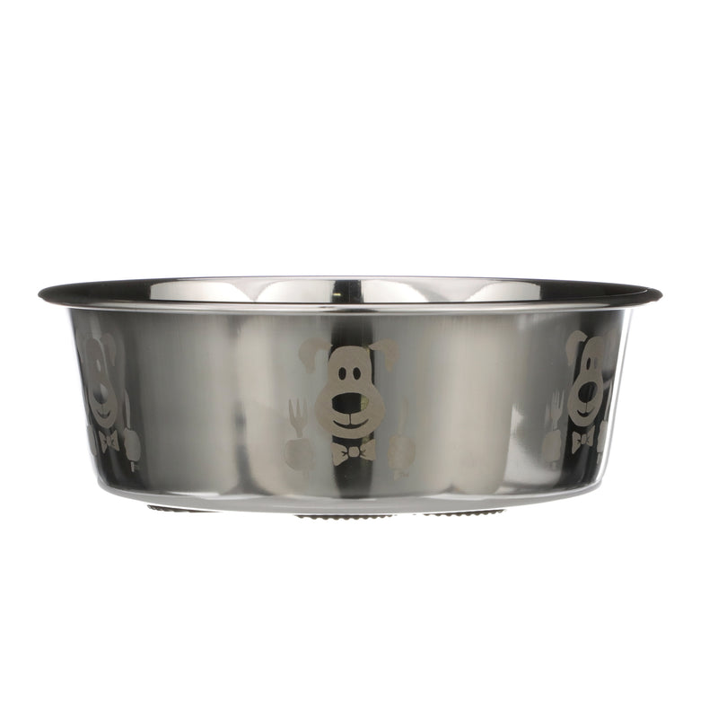 Hungry Dog Etched Stainless Steel Bowls