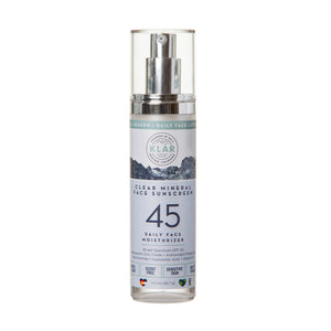 Clear Mineral Face SPF 45 Lotion is a gentle, lightweight, high-performance mineral sunscreen; KLAR sunscreen; KLAR high altitude sunscreen; KLAR skin care