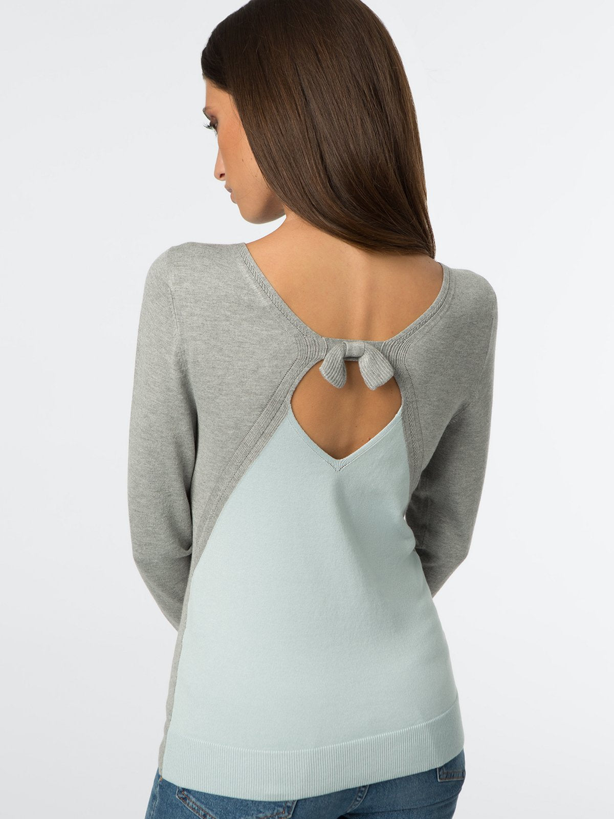 525 America Two-Tone Bow Back Top