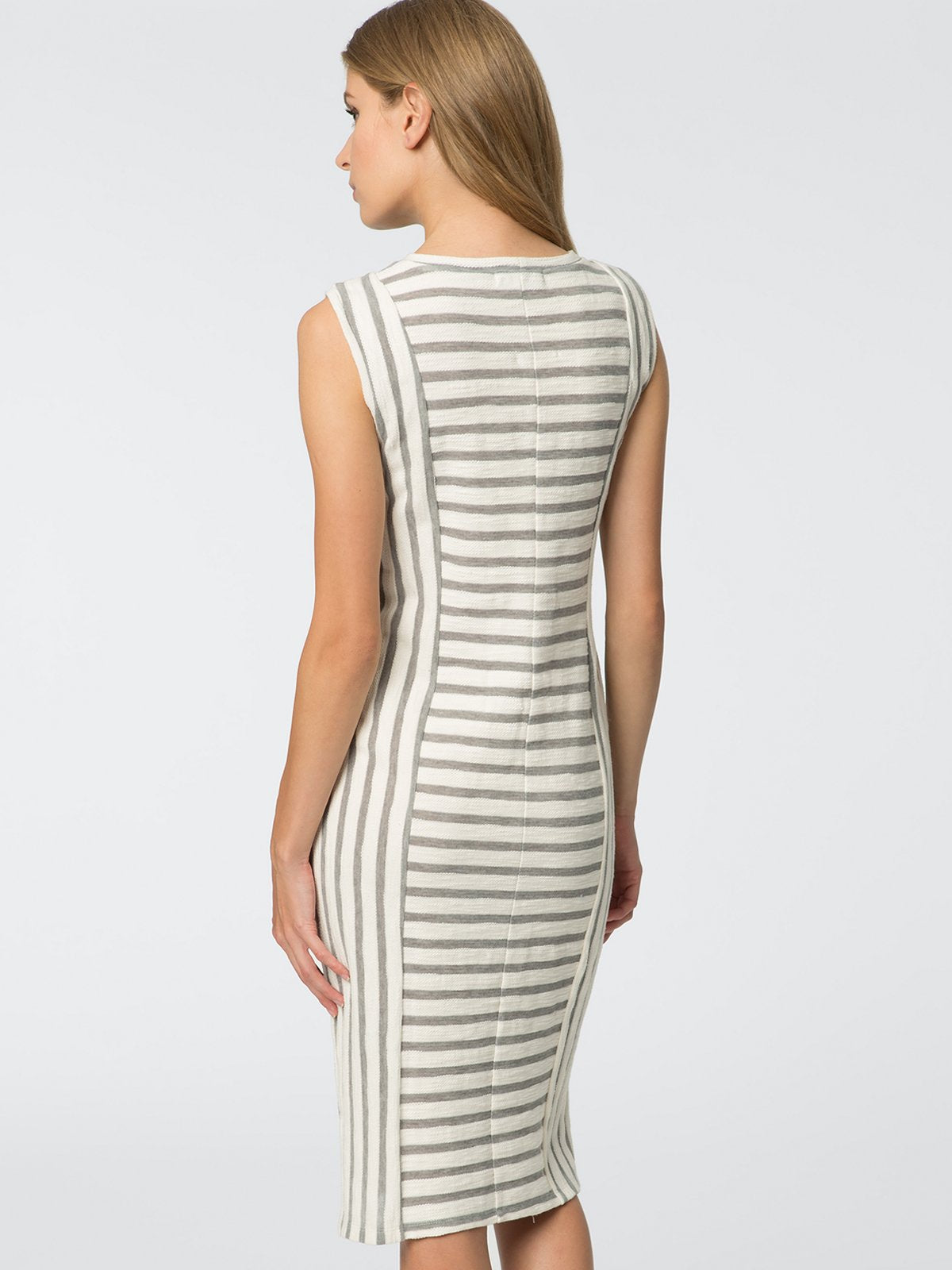 525 America Slub Stripe Sleeveless Dress