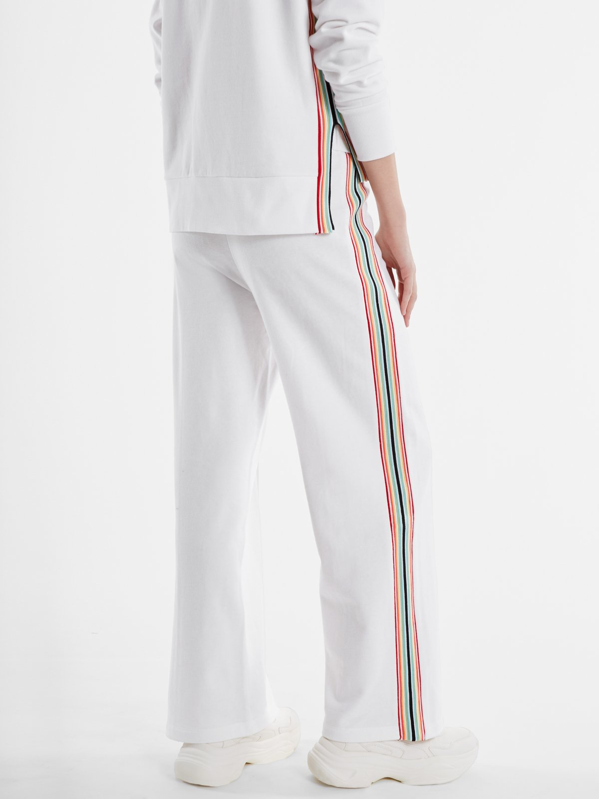 525 America French Terry Rainbow Stripe Pants- Navy