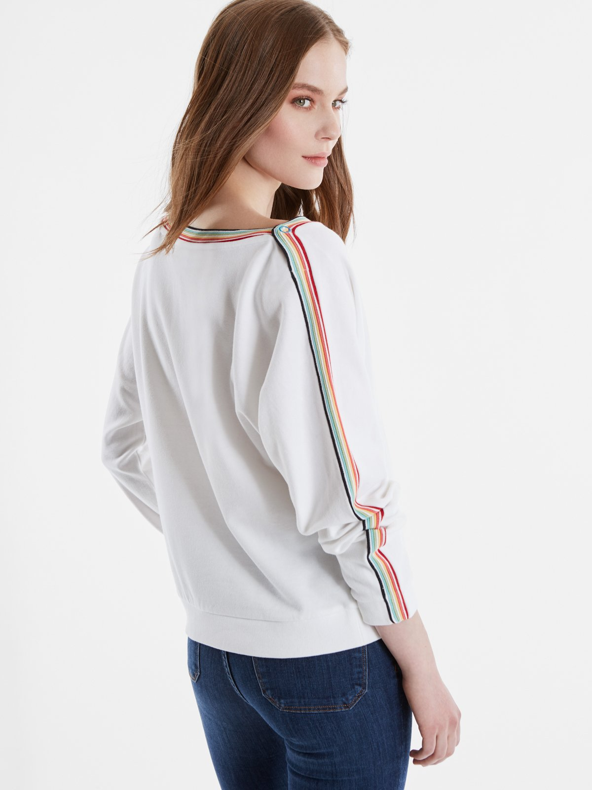 525 America Terry Rainbow Snap Dolman Sleeve