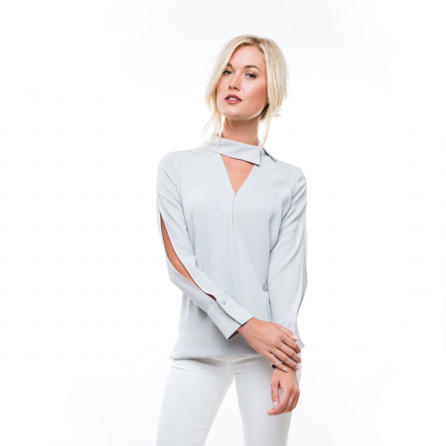 Anna Cate Annabelle Top- Grey