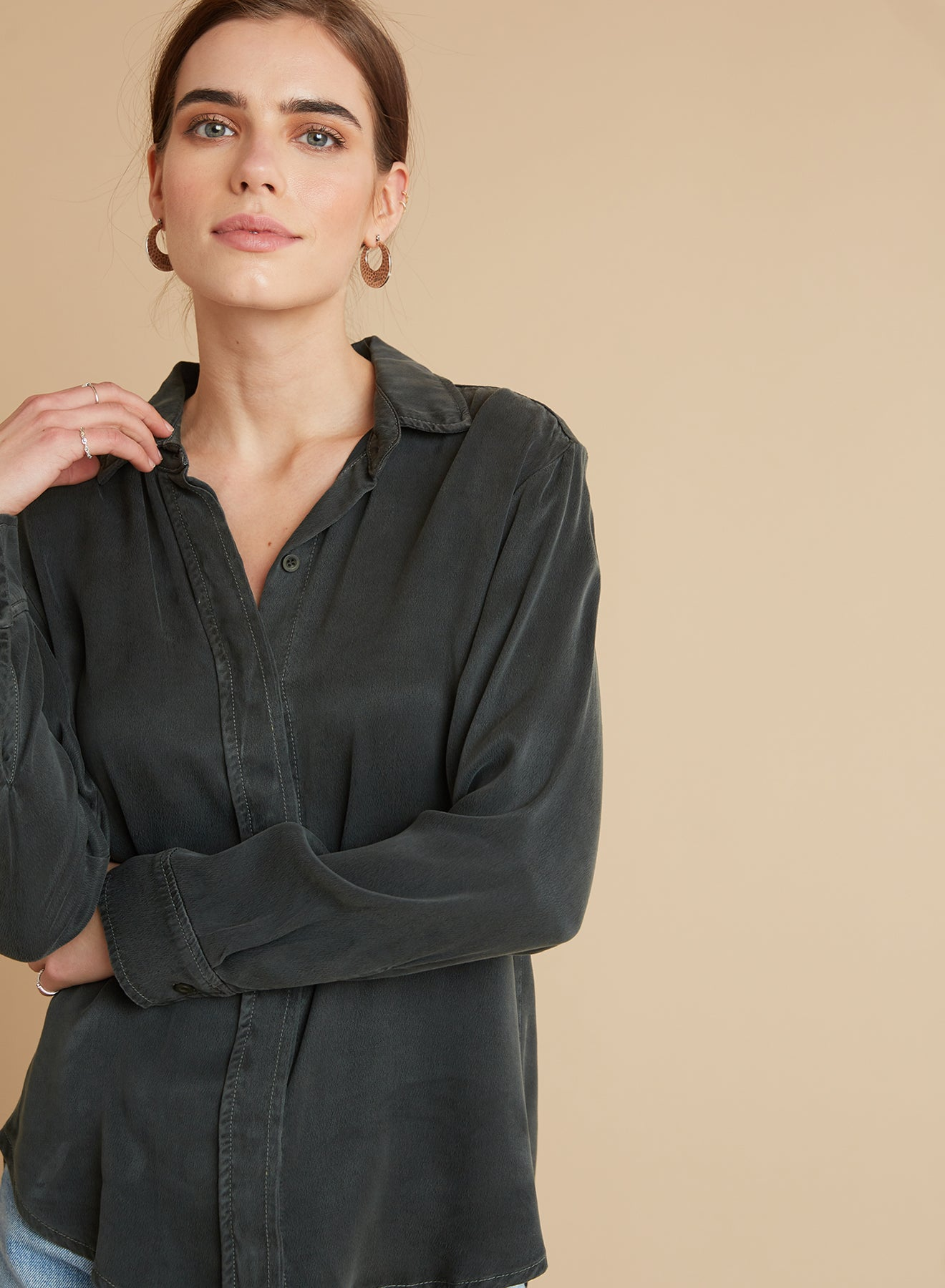 Bella Dahl Hidden Placket Shirt