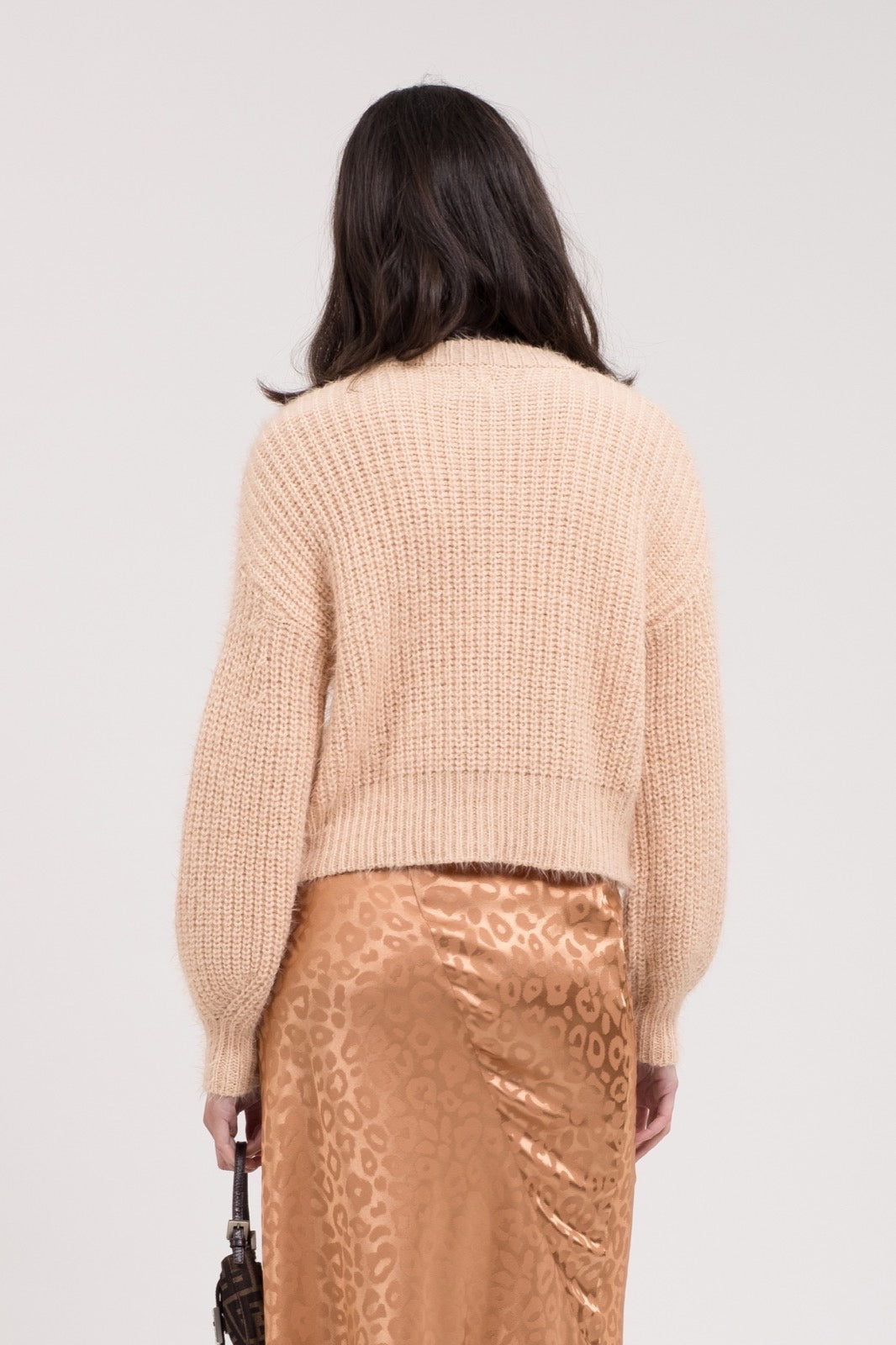 JOA Pink Beige Sweater