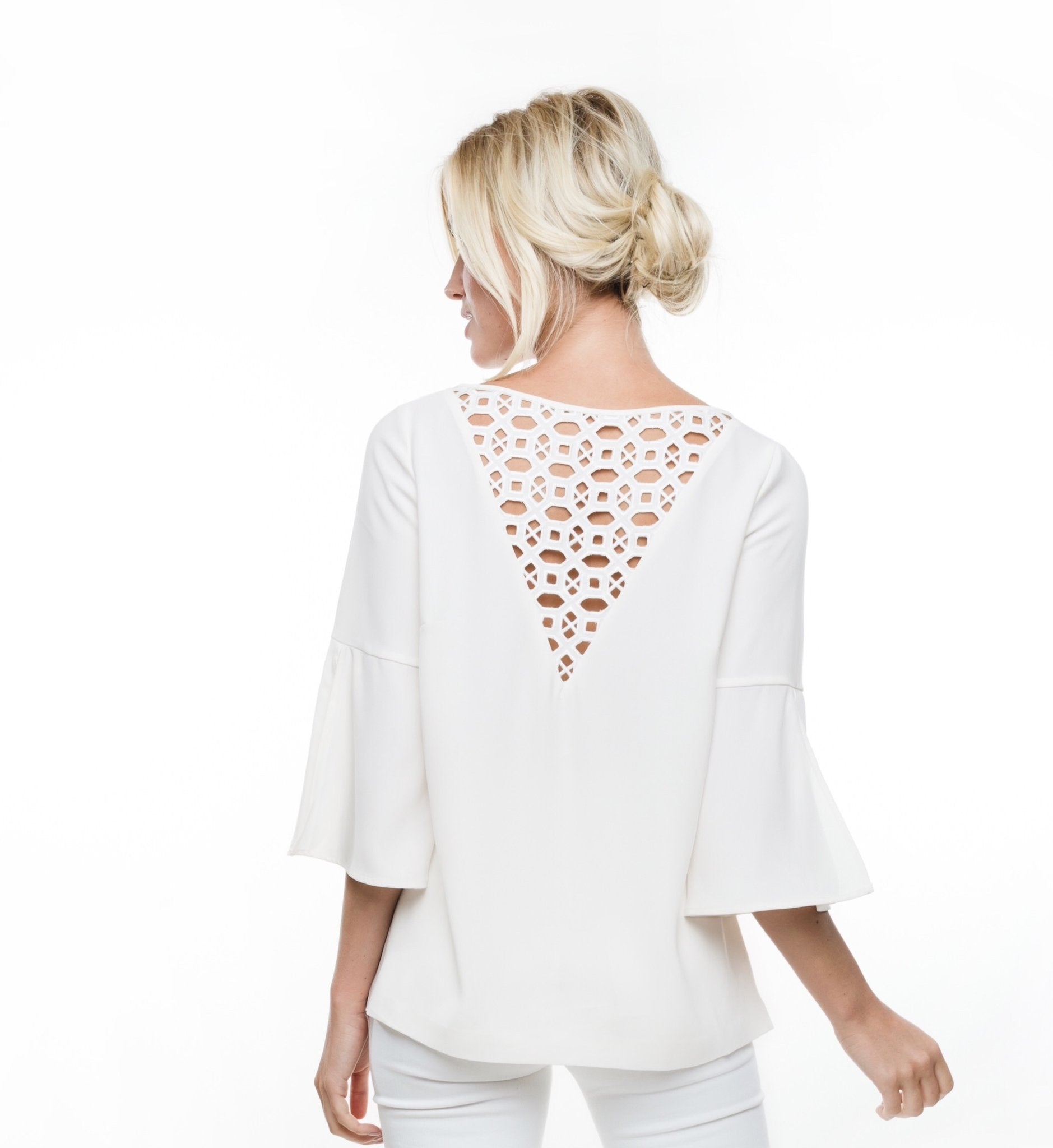Anna Cate Bella Top-White