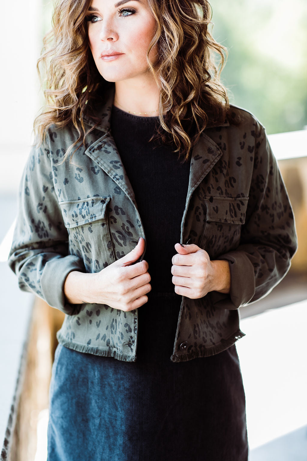 Bella Dahl Crop Military Jacket