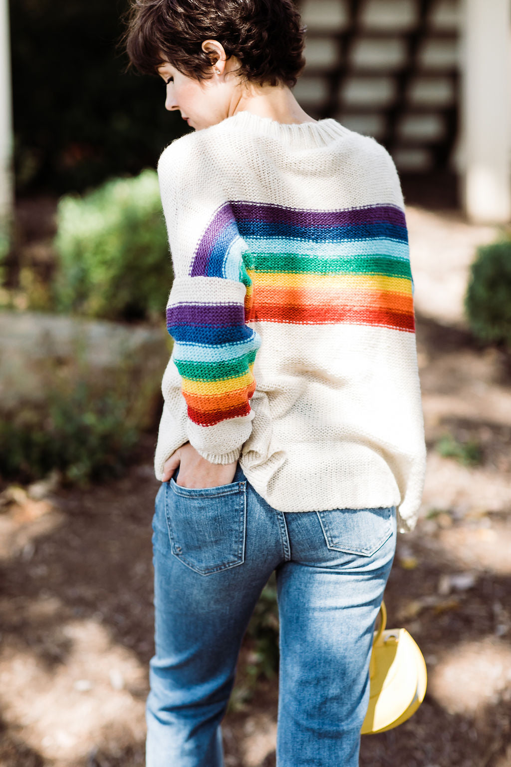 Wooden Ships Rainbow Crew Neck