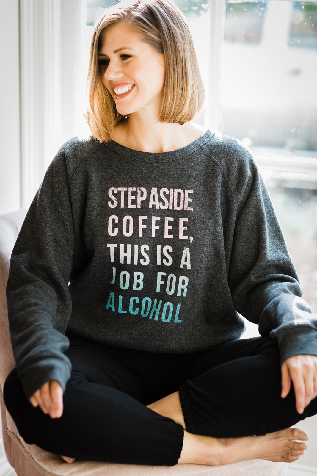 Project Social T Step Aside Coffee Sweatshirt