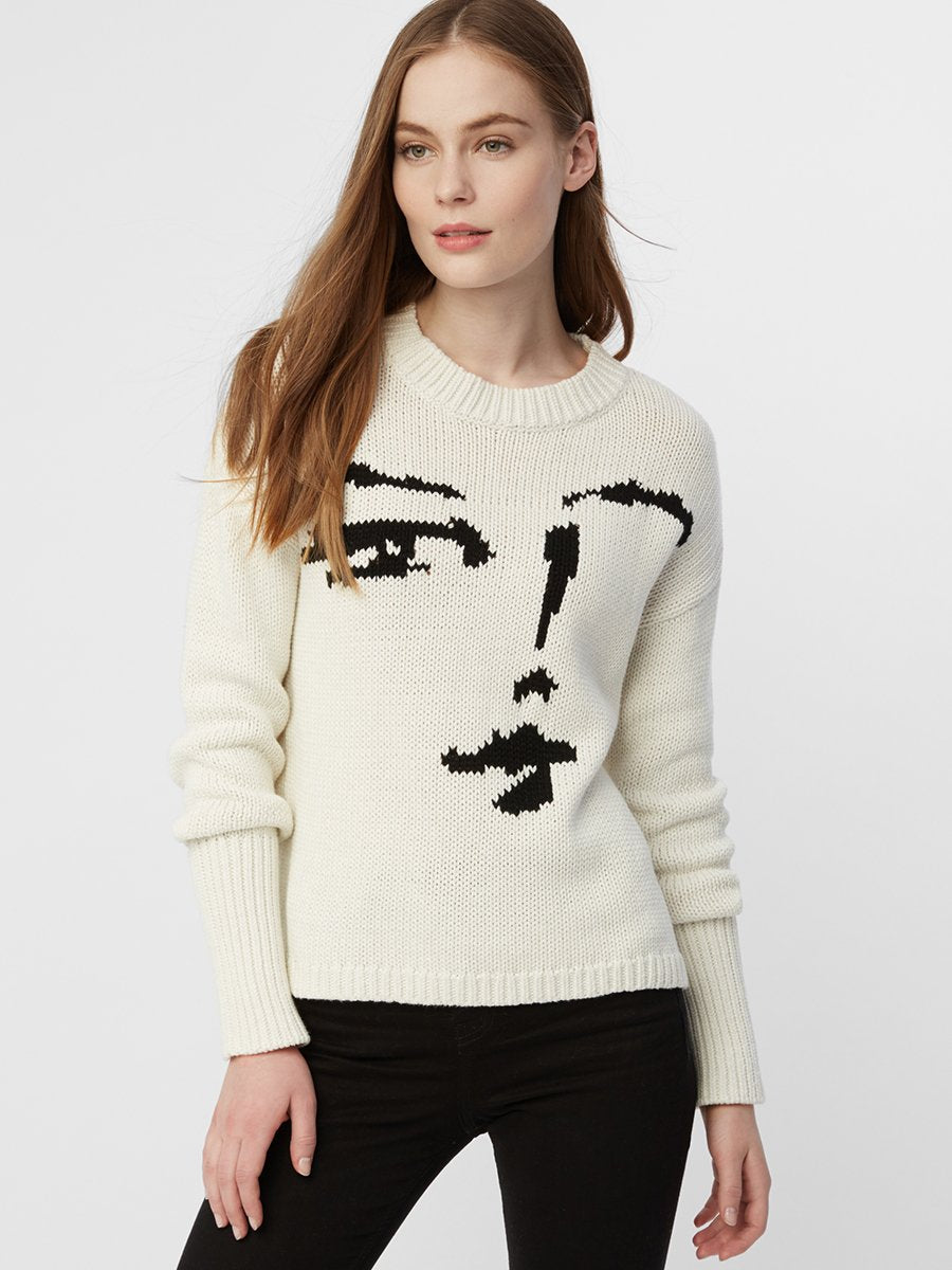 525 America Cotton Shaker Face Sweater