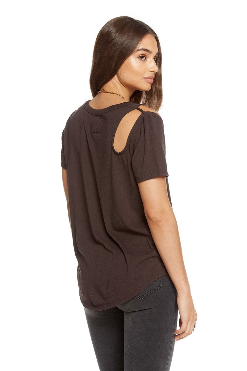 Chaser Vintage Jersey S/S Shoulder Vent Shirttail Crew Neck Tee