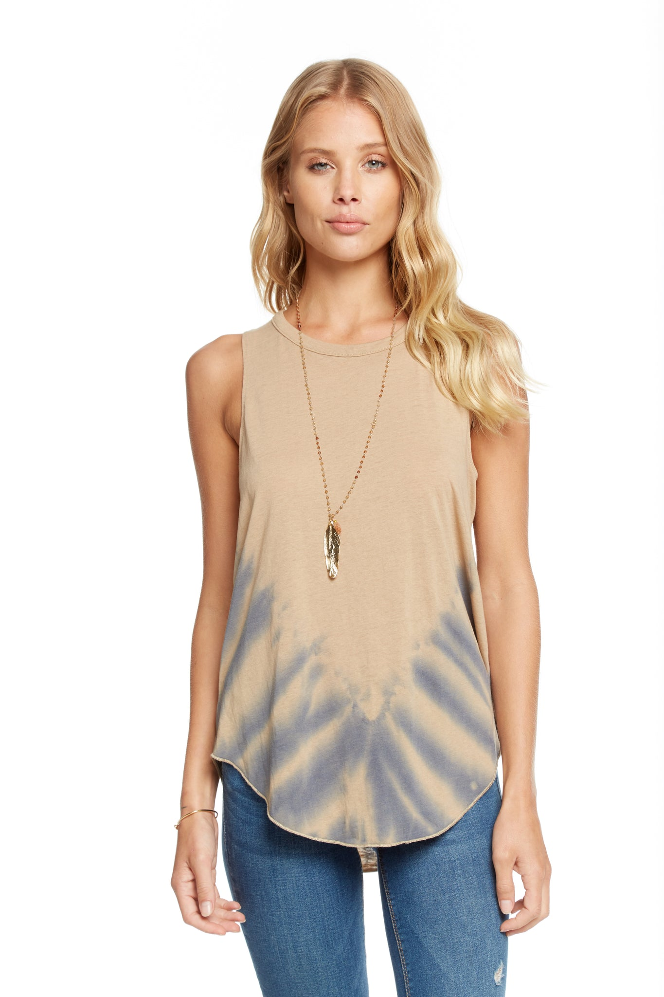 Chaser Vintage Jersey Knot Shirttail Tank