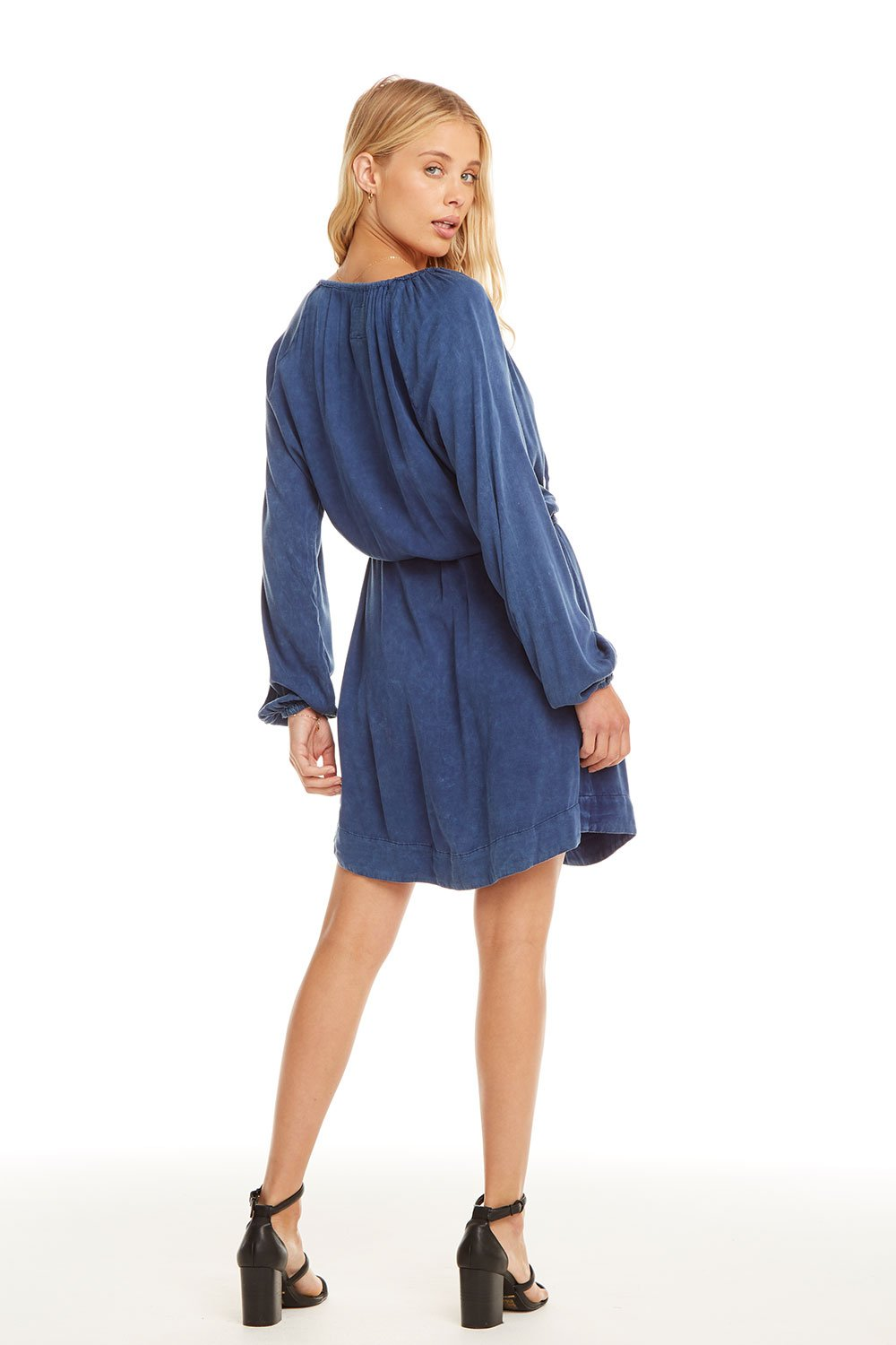 Chaser Heirloom Woven Shirttail Dress with Belt