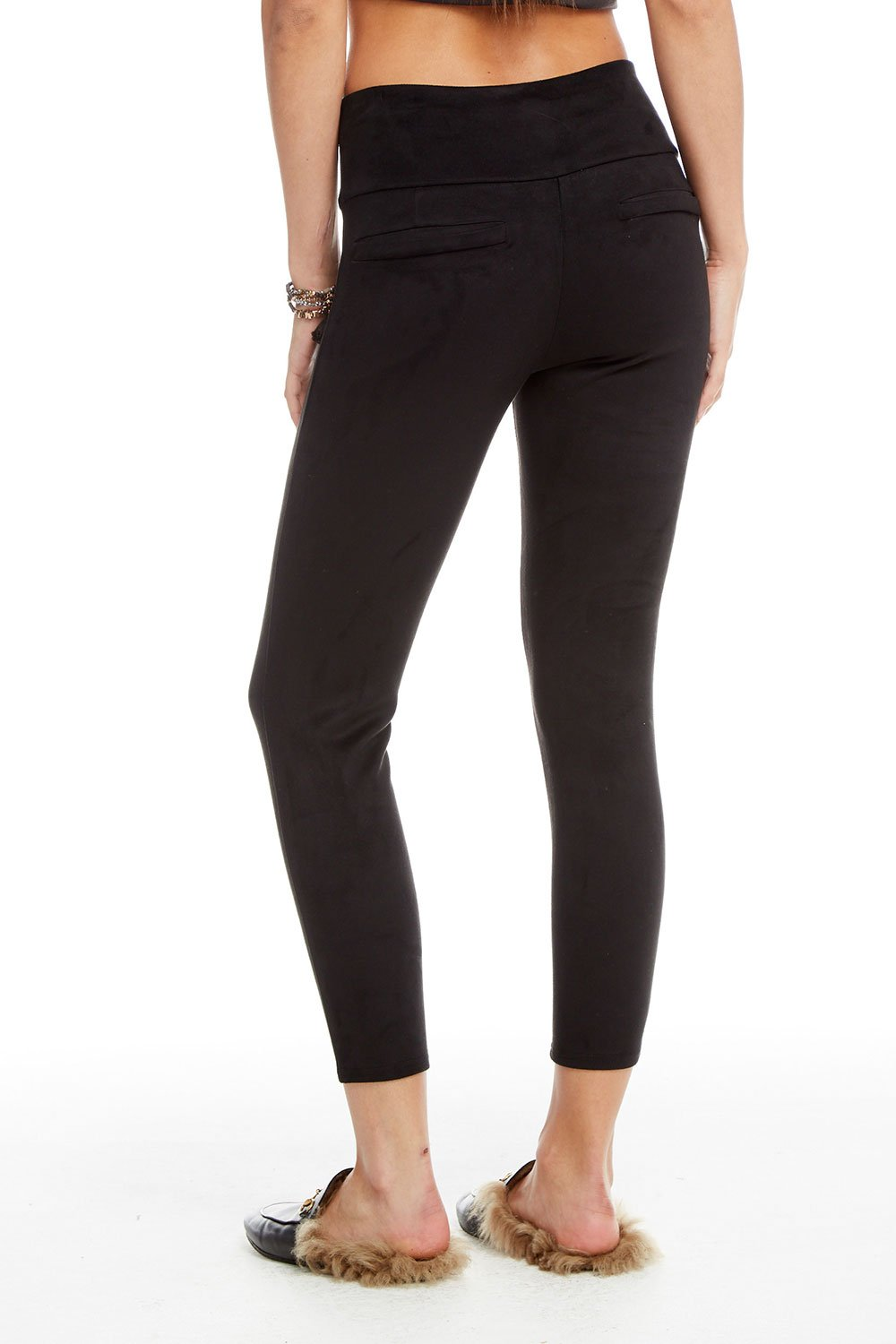 Chaser Faux Suede High Waist Legging