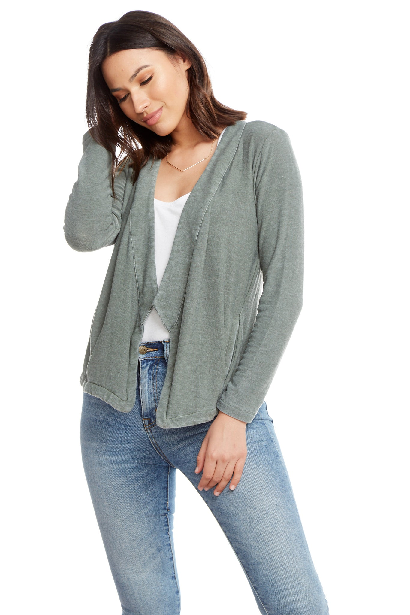 Chaser Knit Long Sleeve Open Front Blazer