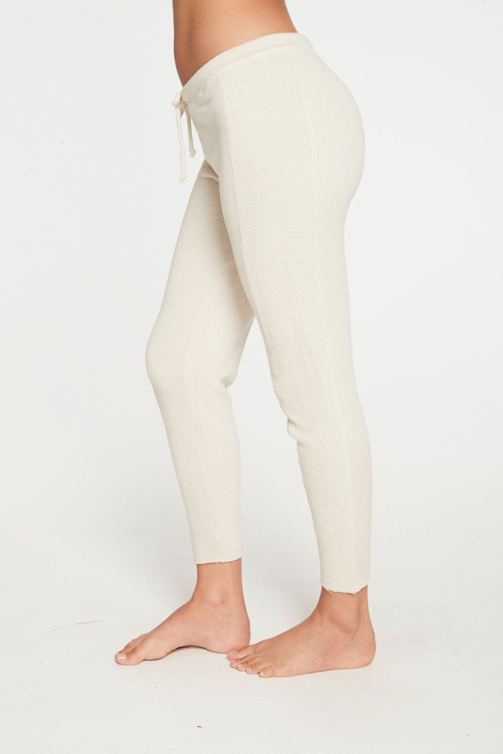 Chaser Linen French Terry Seamed Raw Edge Lounge Pant